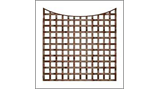 1ft High x 6ft long bowed sq trellis