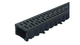 1m Hexdrain black plastic channel