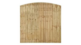 4ft High closeboard domed x 6ft long