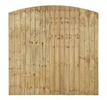 6ft High closeboard domed x 6ft long